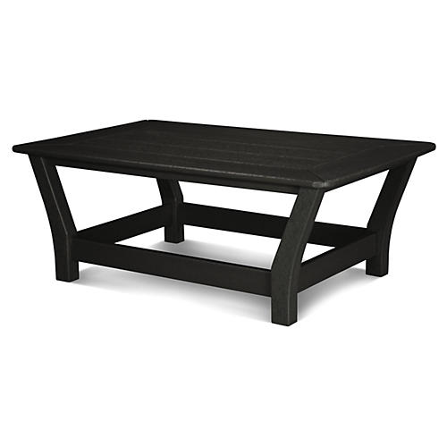 Harbour Slat Coffee Table, Black
