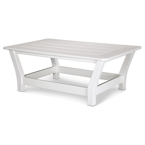 Harbour Slat Coffee Table, White