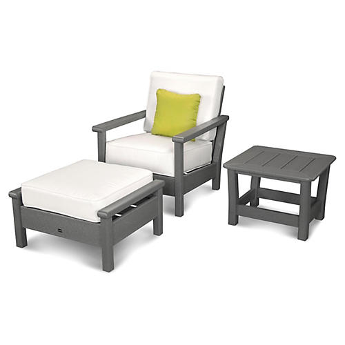 Harbour 3-Pc Outdoor Set, Natural
