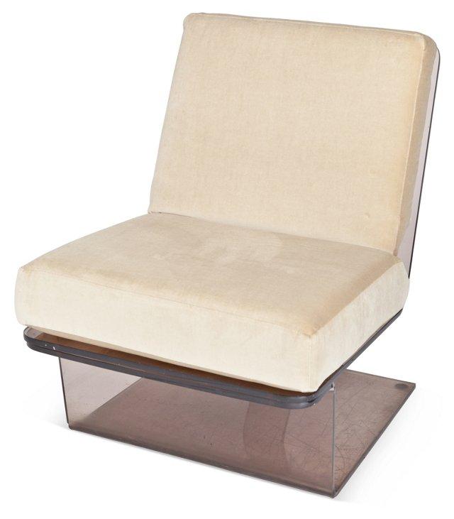 Fume Plexiglas Lounge Chair