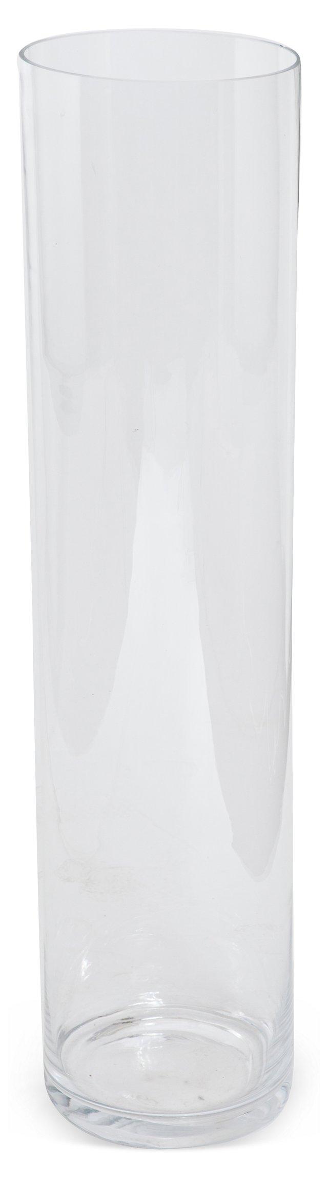 Monumental Glass Column Vase