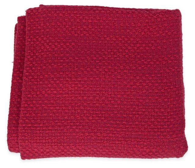 Textured Fuchsia Woven Wool, 3.25 Yds