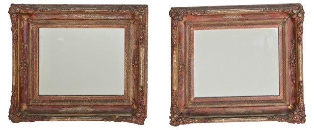 Antique Gilt Mirrors, Pair