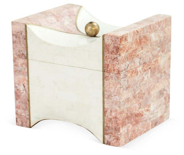 Tessellated Stone Bi-Color Box
