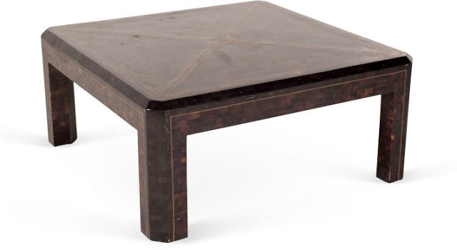 Vintage Horn-Mosaic Coffee Table