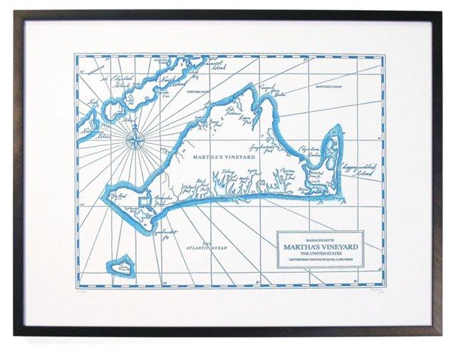 Martha's Vineyard Map Print