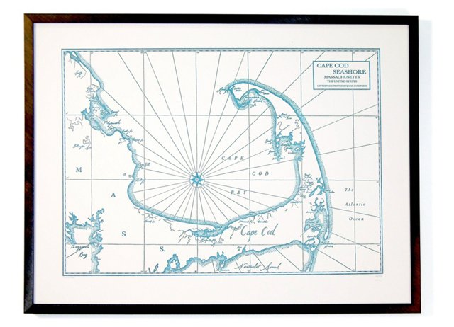 Cape Cod Bay and Seashore Map Print