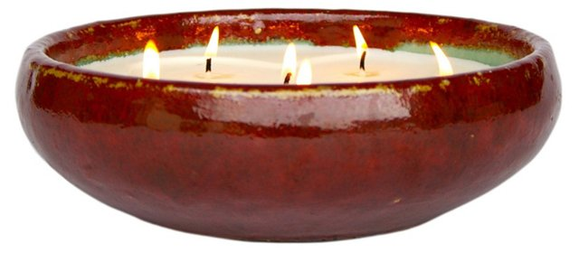 6-Wick Red Candle, Winter Spice