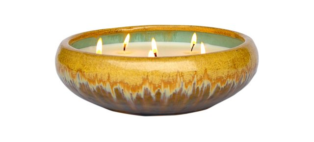 6-Wick Gold Candle, Citrus