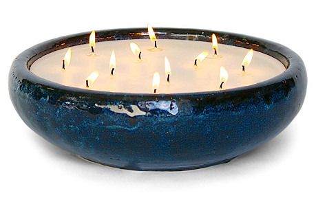 Unscented Bennett Candle, Mission Blue