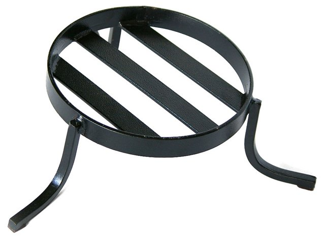 Small Iron Candle Stand, Black