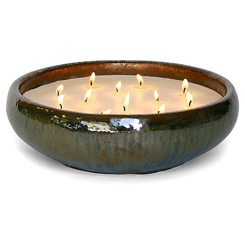 Bennett Palm Citronella Candle, Leaf