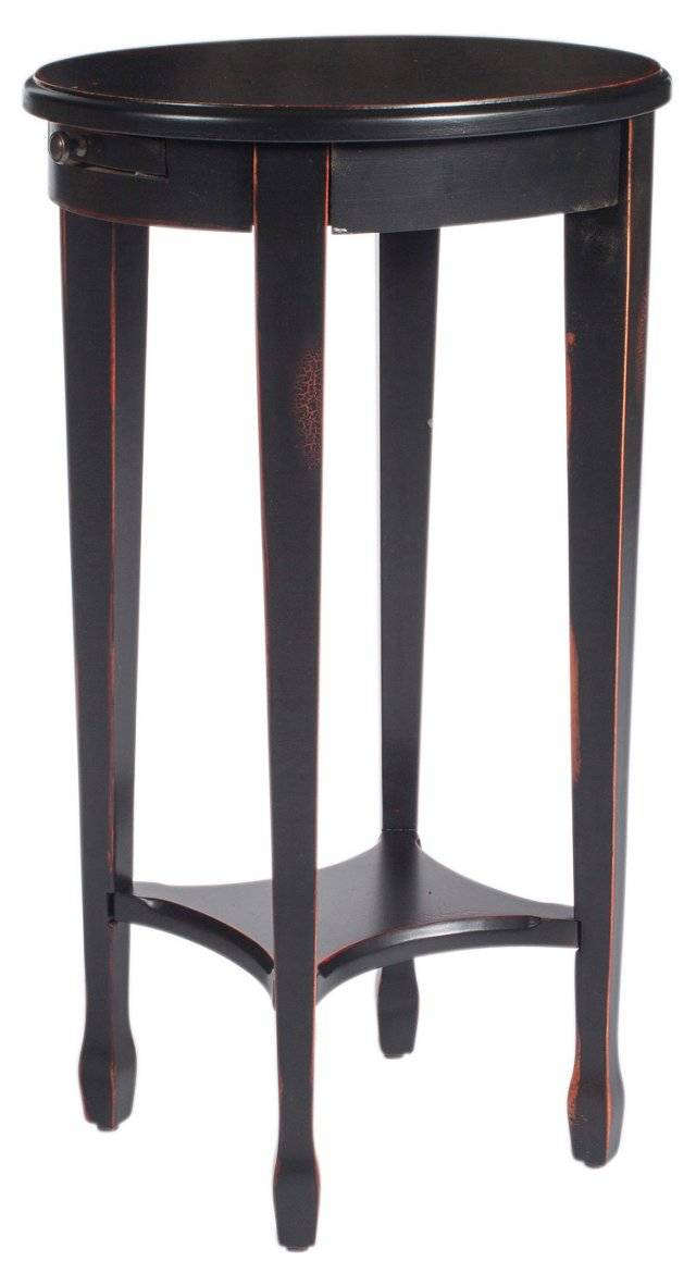 Dashiell Accent Table, Black/Red
