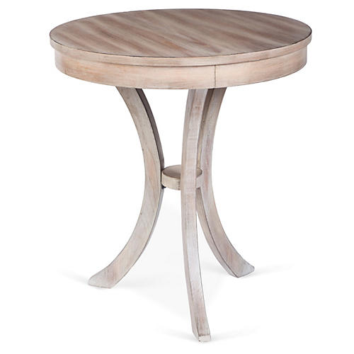 Cormac Side Table, White Wash