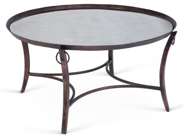 Frasier Mirrored Cocktail Table, Bronze