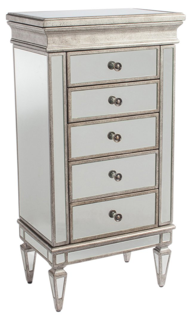 Mabel Jewelry Chest, Pewter