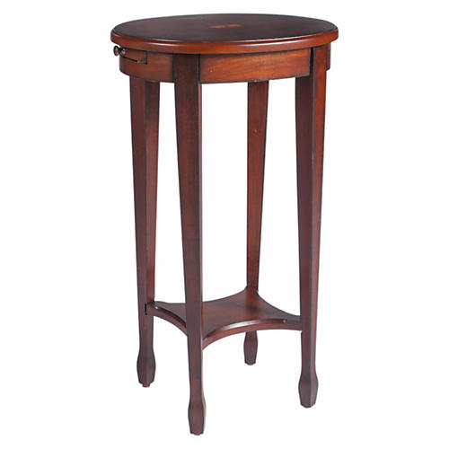 Browning Oval Side Table, Cherry