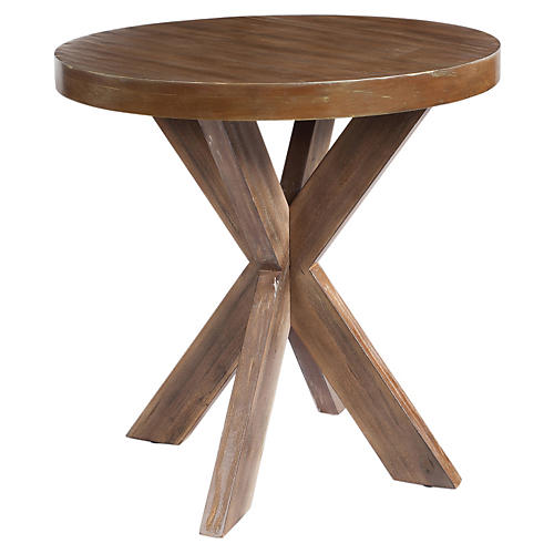 Ava Contemporary Side Table, Wood