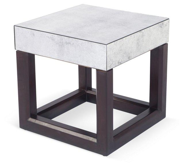 Morris Mirrored Bunching Table, Ebony