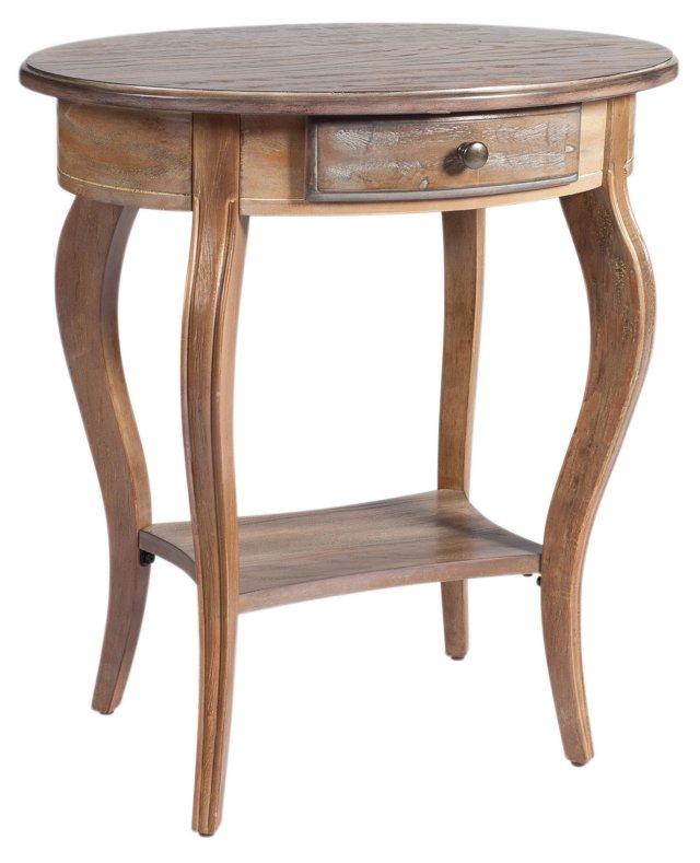 Arthur Oval Nightstand, Light Oak