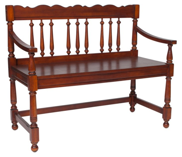Rosalind Bench, Distressed Cherry