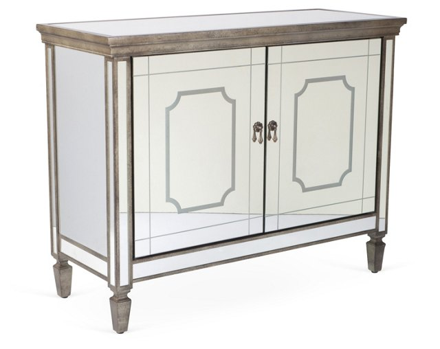 Murphy Mirrored Cabinet, Pewter