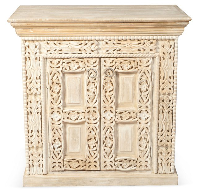 *Kingston Accent Table, Whitewashed