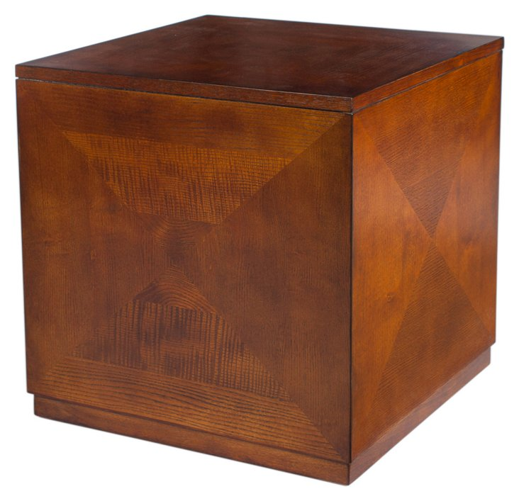 Jackson Cube Table, Walnut