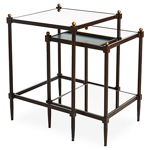 Asst. of 2 Edie Bronze Nesting Tables