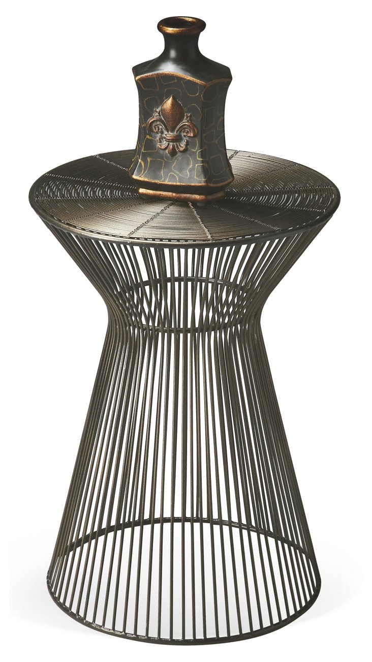 Chiara Accent Table, Pewter