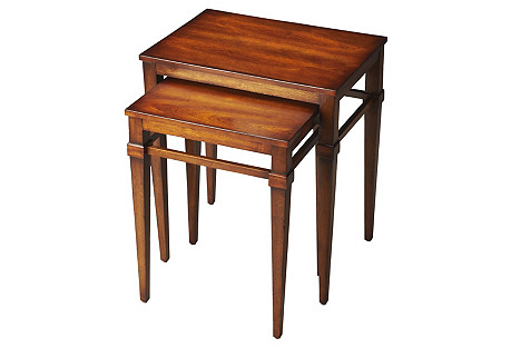 Cherry Harriet Nesting Tables, Set of 2