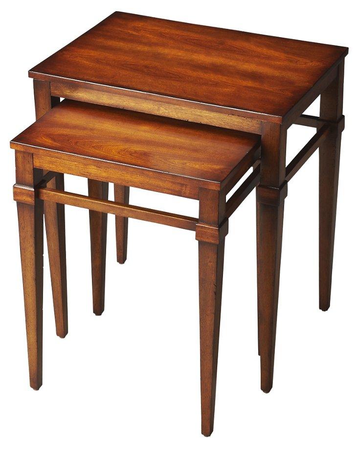 Cherry Harriet Nesting Tables, Set of 2