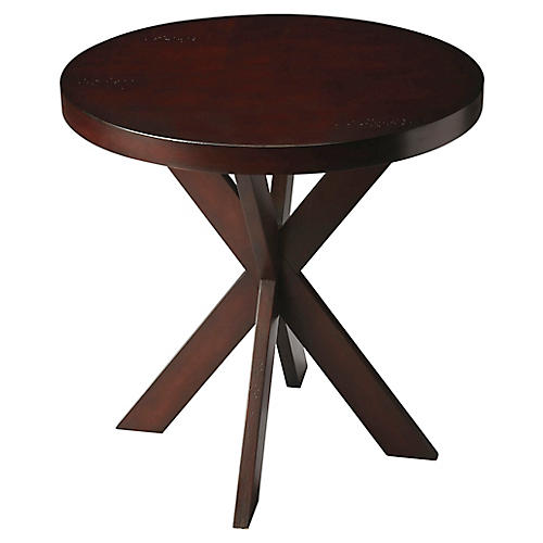 Carter Side Table, Chocolate