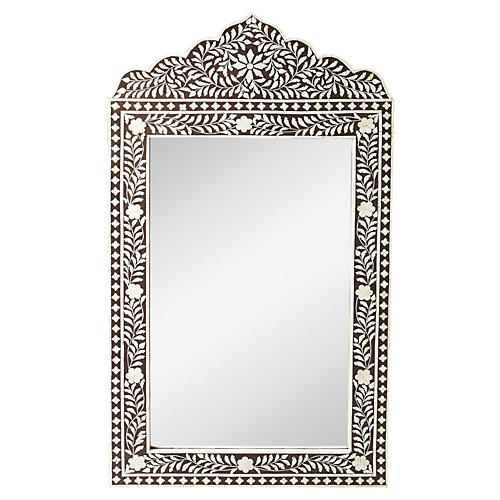 Gen Bone Inlay Oversize Mirror, Espresso