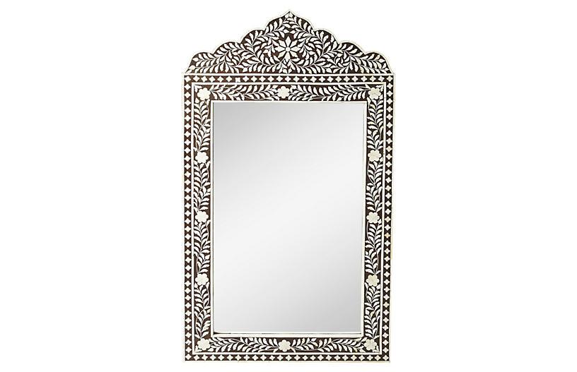 Gen Bone Inlay Oversize Mirror, Espresso
