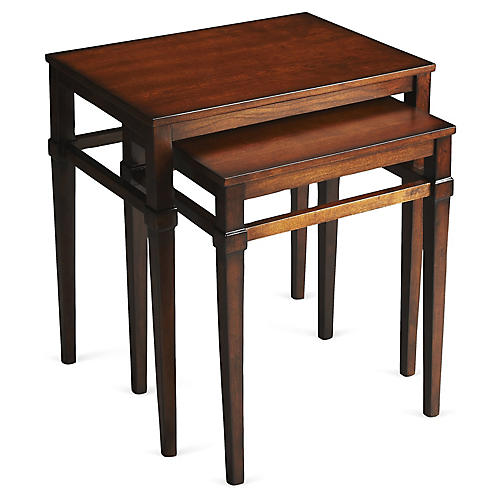 Alicia Wood Nesting Tables, Set of 2