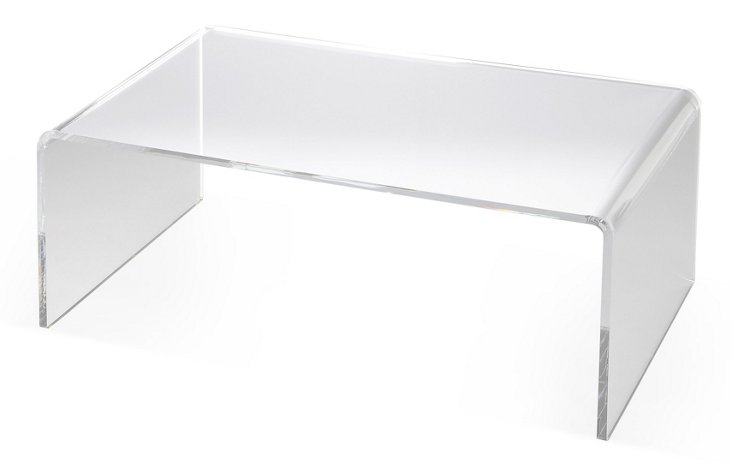 """Avery 38"""" Coffee Table, Clear"""