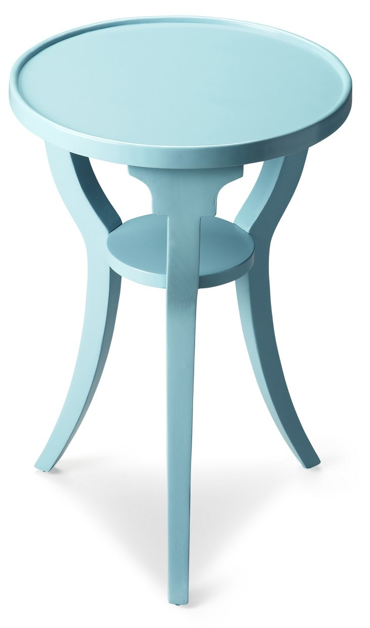 Breck Accent Table, Light Blue