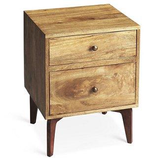 lily mid-century nightstand, natural - nightstands - bedroom Nightstand