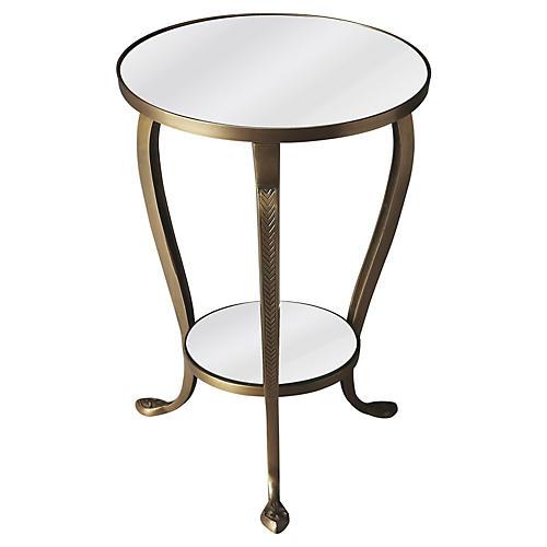 Harper Side Table, Brass