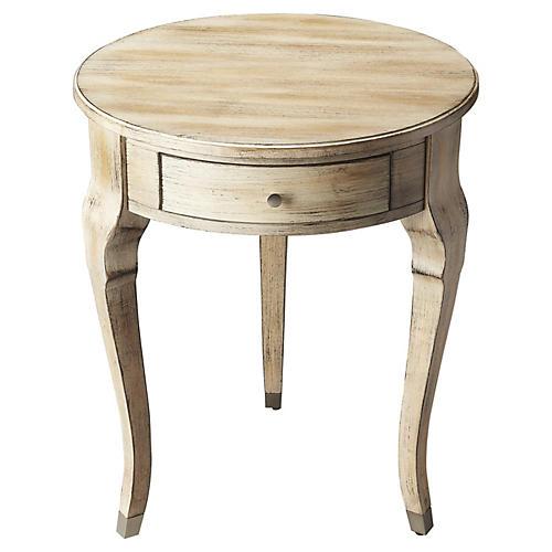 Madison Round Nightstand, Driftwood