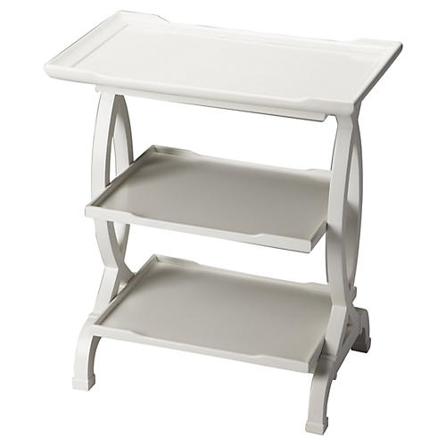 Jaqueline Lacquered Side Table, White