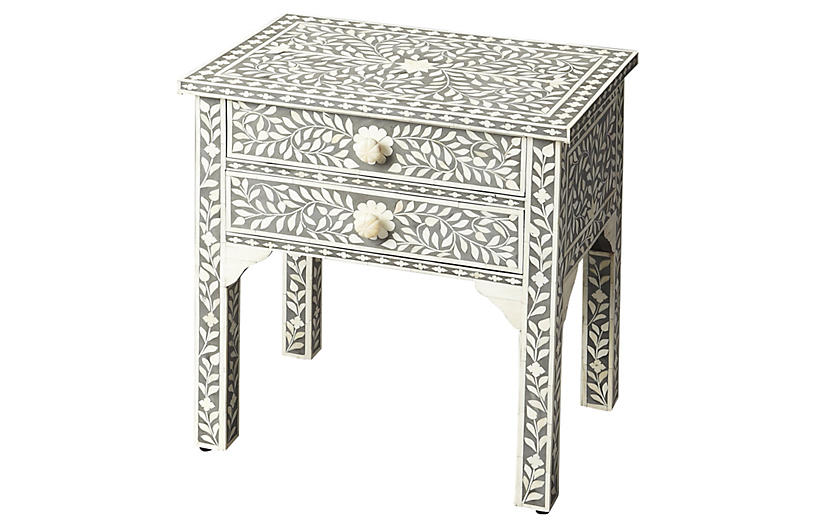 Patrice Nightstand, Gray