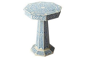 Musa Bone Inlay Round Side Table