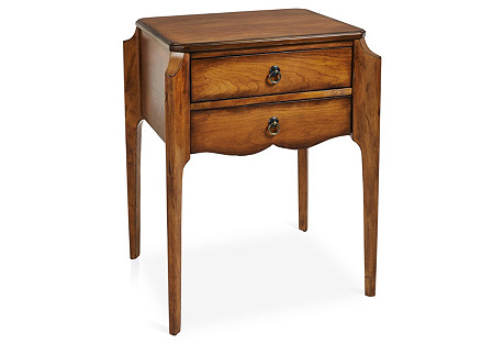 Emily 2-Drawer Nightstand, Chestnut