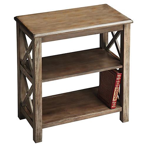 Ladonna 3-Tier Bookcase, Driftwood