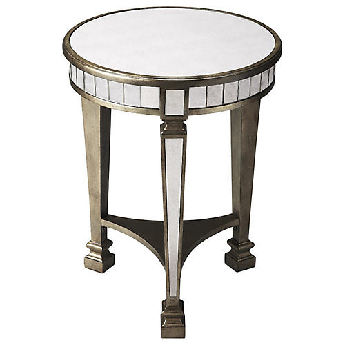 Hiapo Round Side Table, Rustic Bronze