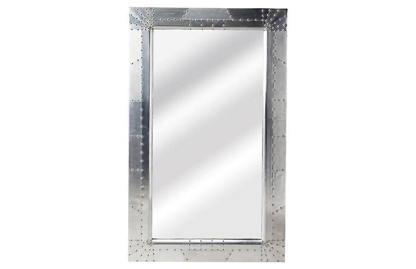 Michele Floor Mirror, Silver
