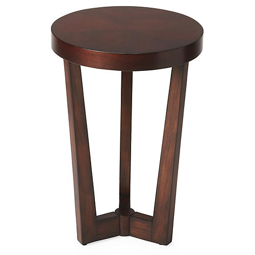 Danielle Round Accent Table, Cherry