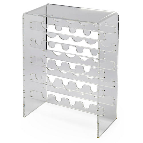 Milly Wine Rack, Clear